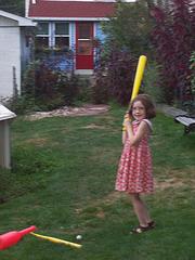 Jill At Bat