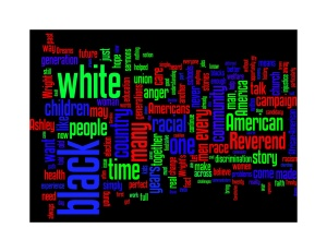 Wordle of Obama's Speech on Race - Philadelphia 2008
