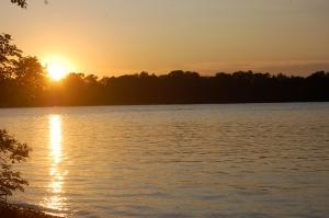 Lake Shetek at sunset